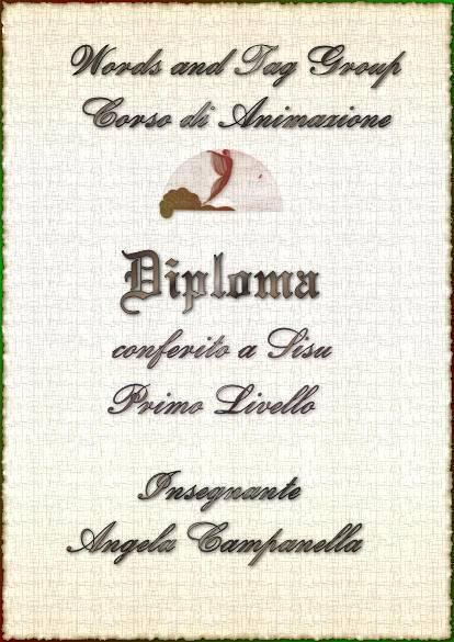 Diploma Corso di Animazioni - I^ Livello